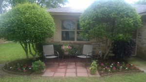 Milestone Church Springtime front yard project patio redo