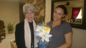Resident with Jeanette of Angel Wing Ministry