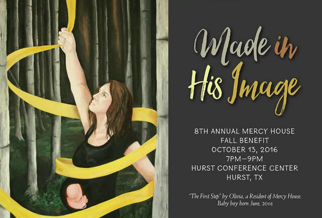 """You're invited to """"Made in His Image,"""" the 8th Annual Mercy House Fall Benefit held October 13, 2016."""