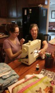 Crown of Life Lutheran volunteer teaches Blanket Making