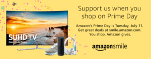 Shop Amazon Smile on Prime Day to generate donations to Mercy House at no extra cost to you