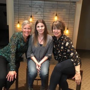 Bridgette, a 2003 Mercy House graduate with Susan Hulet, Founder of Mercy House, and Pam Frink, Executive Director