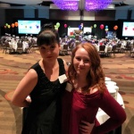 2018 Benefit Kayla Anderson with a friend/volunteer.