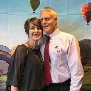 2018 Benefit Pam Frink with her husband, Rory.