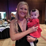 2018 Benefit Tiffany Kiser with a Mercy House baby.