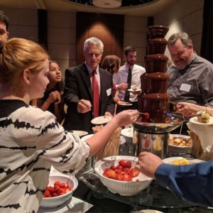 2018 Benefit chocolate fondue station.
