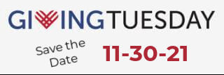 Save the Date for Giving Tuesday on 11-30-21!