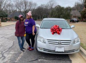 Resident receiving a car as a gift