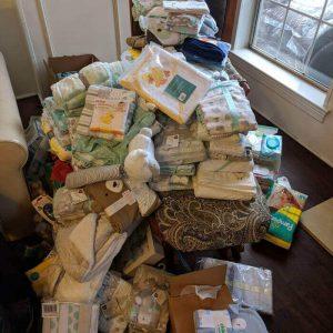 Donated baby goods